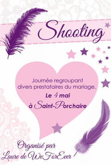 Affiche shooting mariage