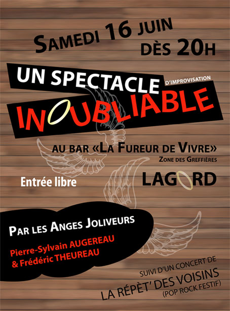 affiche spectacle inoubliable