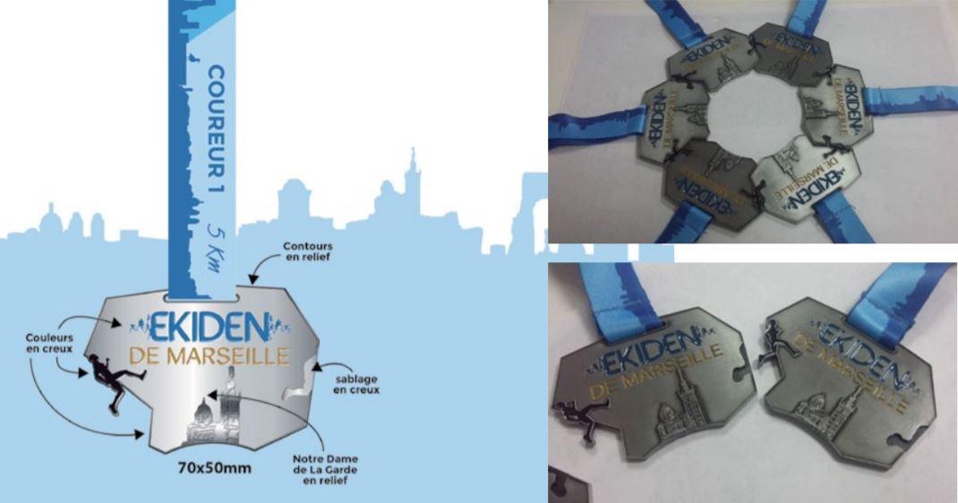 Maquette médaille Ekiden
